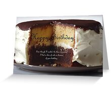 Say Happy Birthday with a Cake Greeting Card
