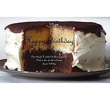 Say Happy Birthday with a Cake Photographic Print