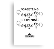 Forgetting Oneself Canvas Print