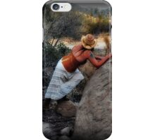 Hiding from the sheriff iPhone Case/Skin