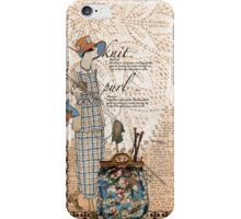 Knitter iPhone Case/Skin