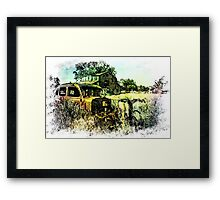 We Got Lost in the Hayfield Framed Print