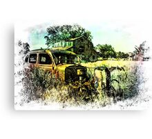 We Got Lost in the Hayfield Canvas Print