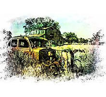 We Got Lost in the Hayfield Photographic Print
