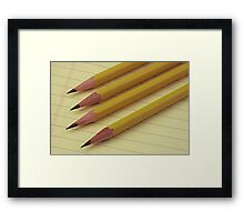 Four Pencils on Yellow Legal Pad Framed Print