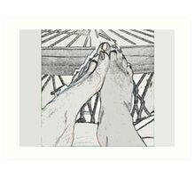 Hammocked Feet Art Print