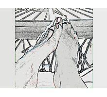 Hammocked Feet Photographic Print