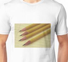 Four Pencils on Yellow Legal Pad Unisex T-Shirt