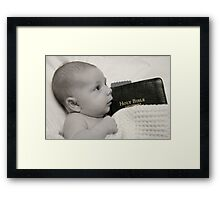 Jesus loves the little children.... Framed Print