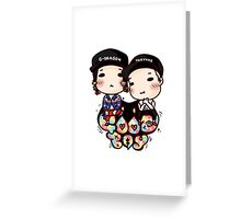 gd x taeyang chibi Greeting Card