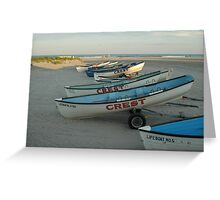 Lifeguard boats in Wildwood Crest Greeting Card