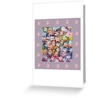 Night blooms in the garden Greeting Card