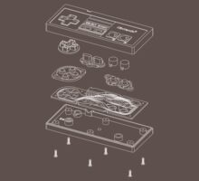 Exploded NES Controller Shirt by tigglebitties