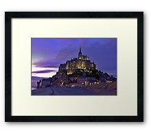 Mont St. Michel after sunset Framed Print