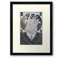 Capitalist Pig Framed Print