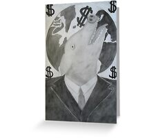 Capitalist Pig Greeting Card