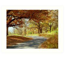 Autumn Country Drive Art Print