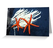 Starfish & Corel Greeting Card
