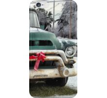 Santa's Coming in a Pick-up Truck... iPhone Case/Skin