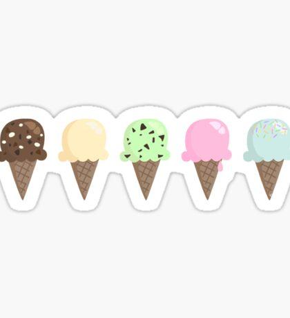 Ice cream flavors Sticker