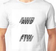 AWD FTW - White/Black Unisex T-Shirt
