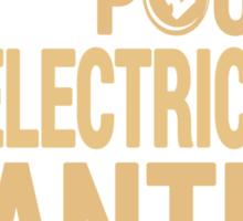 Running Drops Pounds But Electricians Drop Panties - Custom Tshirt Sticker