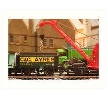 Stock yard - loading the wagons Art Print