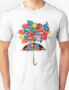 Rainbow rainy day Unisex T-Shirt