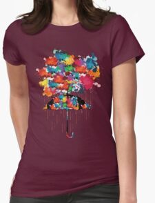 Rainbow rainy day Womens Fitted T-Shirt
