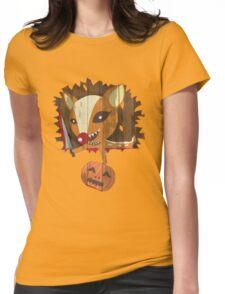 Pumpkin Hunter Womens Fitted T-Shirt