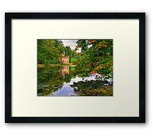 Painshill Park - HDR - Autumn Reflections Framed Print