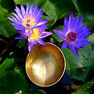 Lilies and Singing Bowl by Charmiene Maxwell-Batten
