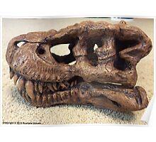 Tyrannosaurus Rex Skull Sculpture Poster