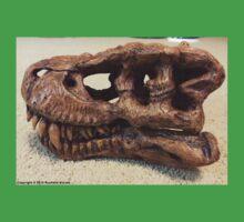 Tyrannosaurus Rex Skull Sculpture One Piece - Short Sleeve