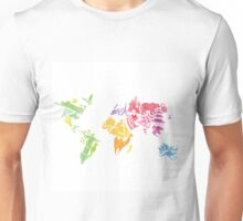 Watercolor map Unisex T-Shirt