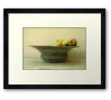 Apples and Bowl Framed Print