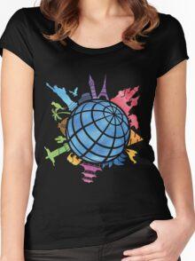Landmarks around the World Women's Fitted Scoop T-Shirt
