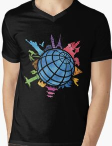 Landmarks around the World Mens V-Neck T-Shirt