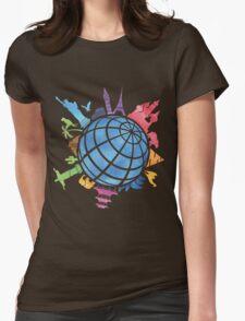Landmarks around the World Womens Fitted T-Shirt