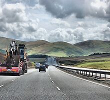 A Photograph on the M6 to Scotland 2009. by albutross