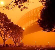 Sydney Harbour Sandstorm by Huw Lambert