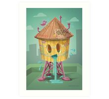 Happy Brooklyn Water Tower Art Print