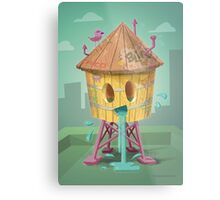 Happy Brooklyn Water Tower Metal Print