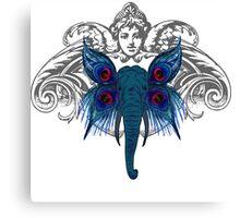 Peacock Elephant Canvas Print