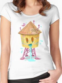 Happy Brooklyn Water Tower Women's Fitted Scoop T-Shirt