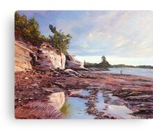 Cliff Reflections Canvas Print