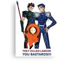 They Killed Lancer - You Bastards Canvas Print