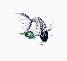 White Koi-Blue Lily Poster Tank Top