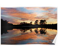 Flaming skies over Texas Poster