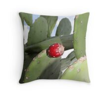 PRICKLY PEAR CACTUS FRUIT Throw Pillow